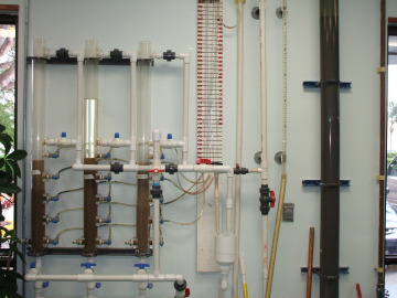 Water Research Facility lab test column