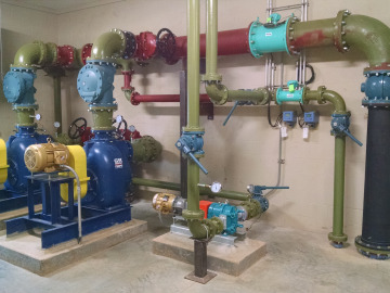 Part of the EquaJet nitrate recycling system at an installation site