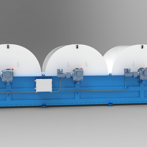 TumbleOx Bioreactor tank with three drums