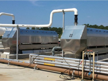 Two side-by-side ThickTech Rotary Drum Thickener Units
