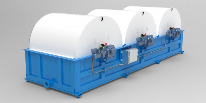 TumbleOx Bioreactor tank with drums