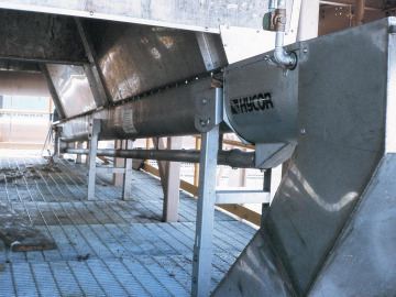 Hycor Helicon® Shaftless Screw Conveyor at Installation Site