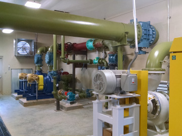 Recirculation pumps and lines- part of the EquaJet® Nitrate Recycling Jet System