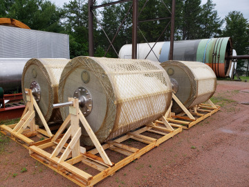 TumbleOx Bioreactor drums on a skid