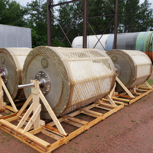 TumbleOx Nitrification Reactor drums on a skid
